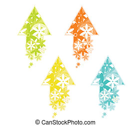 colorful arrows pattern