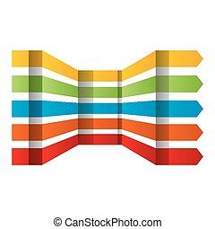 Colorful arrows set vector design elements.