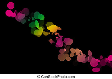Colorful art in many different colors