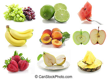 colorful assorted fruits collage