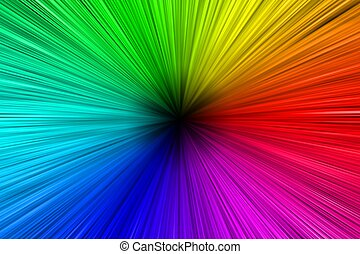 Colorful Aura - Colors Spectrum Background with a Dark...