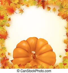 Colorful autumn card. EPS 8