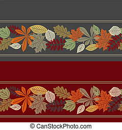 Colorful autumn leaf seamless pattern