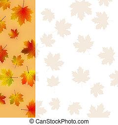 Colorful autumn leaves card.