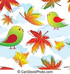 colorful autumn leaves seamless