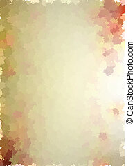 Colorful autumn leaves template pattern. EPS 10