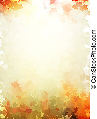 Colorful autumn leaves template pattern. EPS 10 - Colorful...