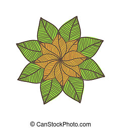 Colorful autumn leaves. Vector illustration.