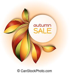 Colorful autumn sale background