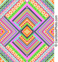 Colorful Aztec pattern - seamless background