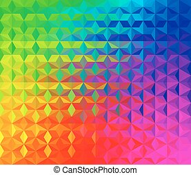 colorful background - composition with grid, tiles, 3d...