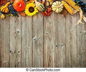 Colorful background for Halloween and Thanksgiving - ...