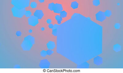"""Colorful background from flying hexagons"" - ""A cheery 3d..."