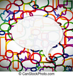 Colorful background made from speech bubbles with place for...