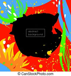 Colorful background made of bright stains