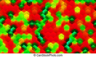 Colorful Background Made of Cubes - CGI Plastic Texture Made...
