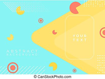 Colorful background modern art design abstract shape line halftone with space for text
