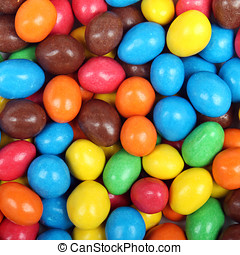 colorful background of chocolate candies