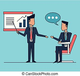 colorful background of conducting business conference between businessmen