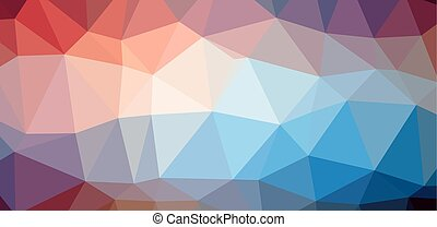 Colorful background on Low polygon