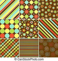 Colorful Background Patterns - Set of nine background ...