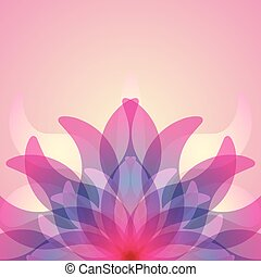 Colorful background with abstract flower.