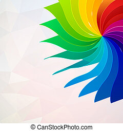 Colorful background with book pages rainbow