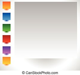 Colorful background with bright, colorful gradients. Colorful button, badge backgrounds set