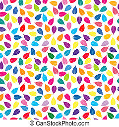 Colorful background with colored leaves, seamless pattern