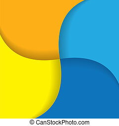 colorful background with curvy lines - vector graphic