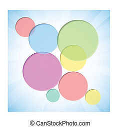 Colorful background with dent circles.