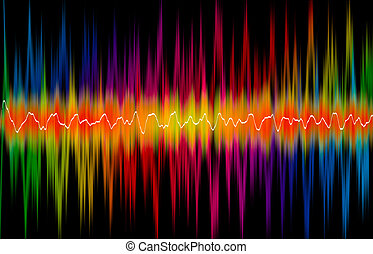 Colorful background with double spectrum