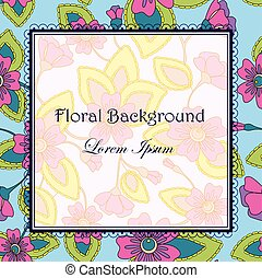 Colorful background with flowers
