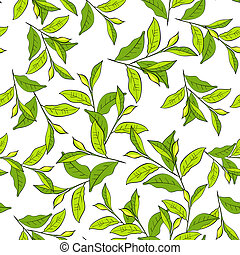 Colorful background with leaves. Seamless pattern for your design wallpapers, pattern fills, web page backgrounds, surface textures.