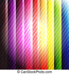 Colorful Background With Lines