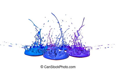 colorful background with liquid. Simulation of splashes of...