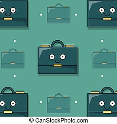 colorful background with pattern of animated executive briefcase
