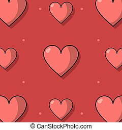 colorful background with pattern of hearts