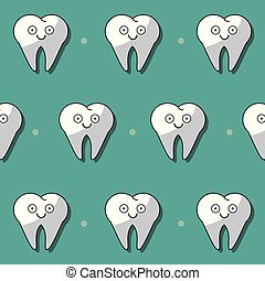 colorful background with pattern of teeth animated
