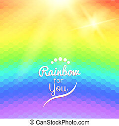 Colorful background with rainbow waves with mosaic texture...