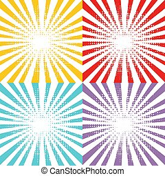 Colorful Background With Rays