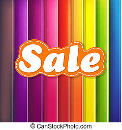 Colorful Background With Sale Text