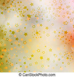 Colorful background with stars and bokeh effect for design