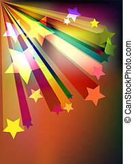 Colorful background with stars pattern.