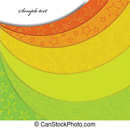 Colorful background with step. Vector