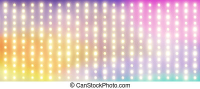 Colorful background with the tiny lamps