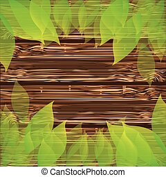 colorful background wooden texture with leaves