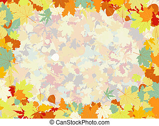 Colorful backround of fallen autumn leaves. EPS 8