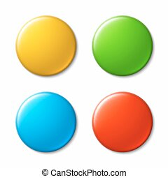 Colorful badges - Blank colorful badges