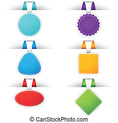 Colorful Badges - Website badges in different colors. EPS 10...